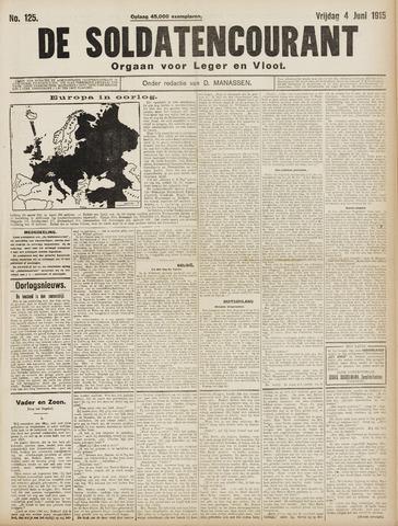 De Soldatencourant. Orgaan voor Leger en Vloot 1915-06-04