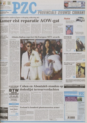 Provinciale Zeeuwse Courant 2004-11-19