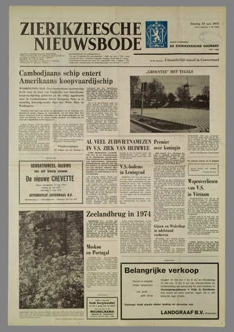 Zierikzeesche Nieuwsbode 1975-05-13