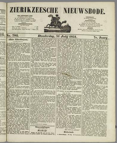 Zierikzeesche Nieuwsbode 1851-07-31