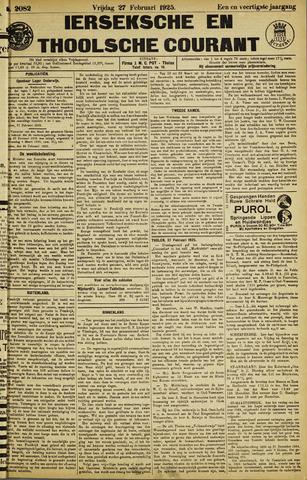 Ierseksche en Thoolsche Courant 1925-02-27