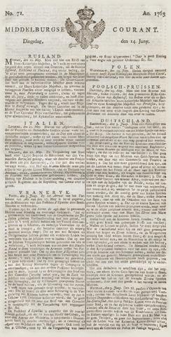 Middelburgsche Courant 1763-06-14