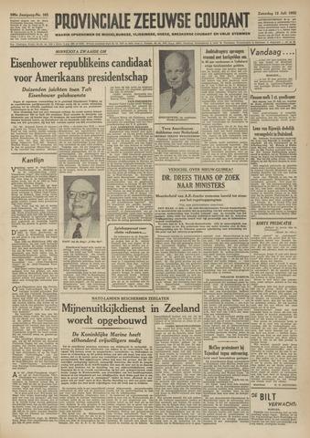 Provinciale Zeeuwse Courant 1952-07-12