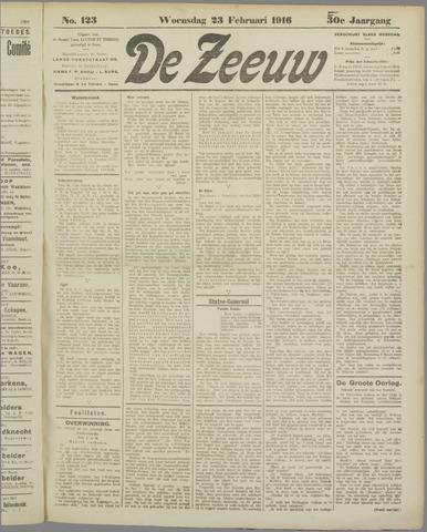 De Zeeuw. Christelijk-historisch nieuwsblad voor Zeeland 1916-02-23