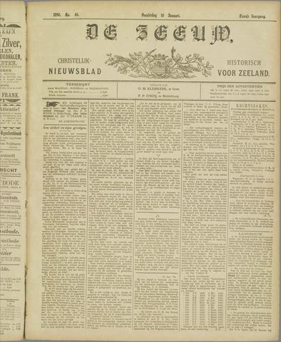 De Zeeuw. Christelijk-historisch nieuwsblad voor Zeeland 1896-01-16