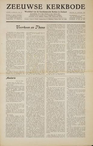 Zeeuwsche kerkbode, weekblad gewijd aan de belangen der gereformeerde kerken/ Zeeuwsch kerkblad 1955-01-21