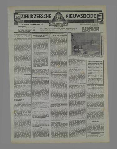 Zierikzeesche Nieuwsbode 1942-02-28