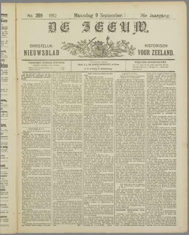 De Zeeuw. Christelijk-historisch nieuwsblad voor Zeeland 1912-09-09
