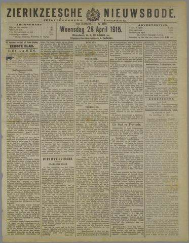 Zierikzeesche Nieuwsbode 1915-04-28