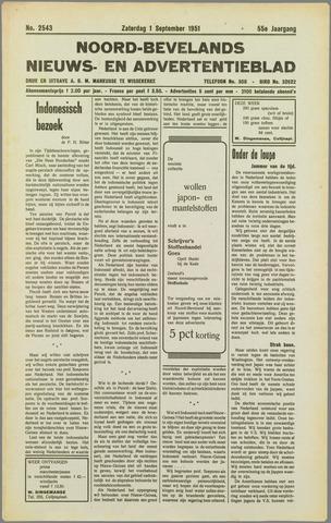 Noord-Bevelands Nieuws- en advertentieblad 1951-09-01