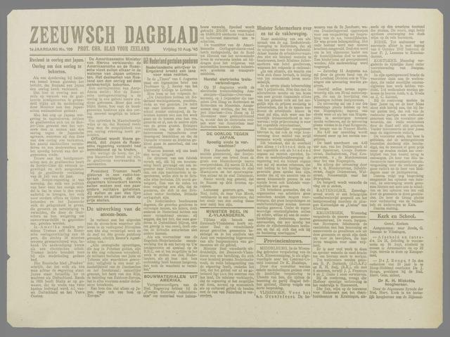 Zeeuwsch Dagblad 1945-08-10