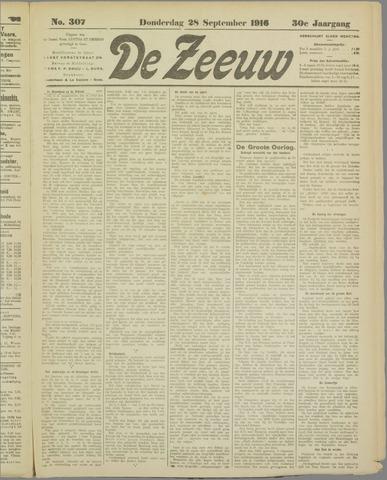 De Zeeuw. Christelijk-historisch nieuwsblad voor Zeeland 1916-09-28