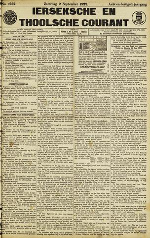 Ierseksche en Thoolsche Courant 1922-09-02
