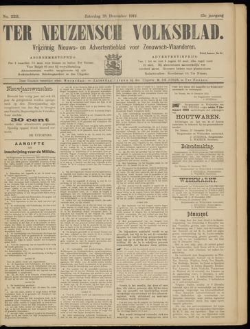 Ter Neuzensch Volksblad. Vrijzinnig nieuws- en advertentieblad voor Zeeuwsch- Vlaanderen / Zeeuwsch Nieuwsblad. Nieuws- en advertentieblad voor Zeeland 1912-12-28