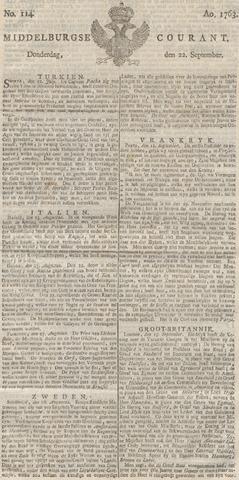 Middelburgsche Courant 1763-09-22