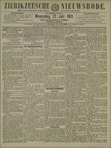 Zierikzeesche Nieuwsbode 1911-07-12
