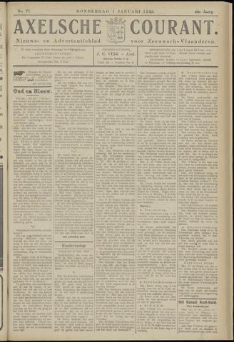 Axelsche Courant 1925-01-01