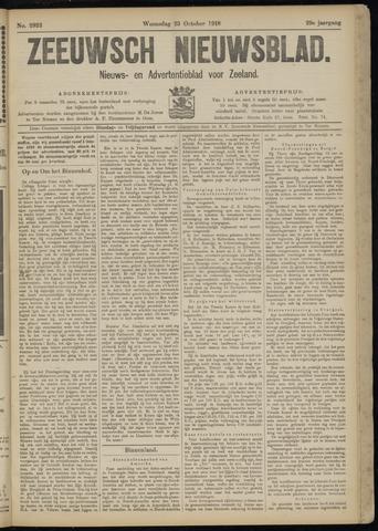 Ter Neuzensch Volksblad. Vrijzinnig nieuws- en advertentieblad voor Zeeuwsch- Vlaanderen / Zeeuwsch Nieuwsblad. Nieuws- en advertentieblad voor Zeeland 1918-10-23