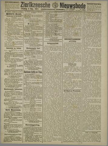Zierikzeesche Nieuwsbode 1917-11-02