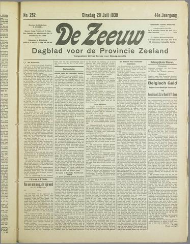 De Zeeuw. Christelijk-historisch nieuwsblad voor Zeeland 1930-07-29
