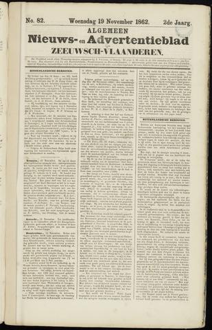 Ter Neuzensche Courant. Algemeen Nieuws- en Advertentieblad voor Zeeuwsch-Vlaanderen / Neuzensche Courant ... (idem) / (Algemeen) nieuws en advertentieblad voor Zeeuwsch-Vlaanderen 1862-11-19