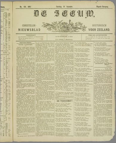 De Zeeuw. Christelijk-historisch nieuwsblad voor Zeeland 1895-09-28