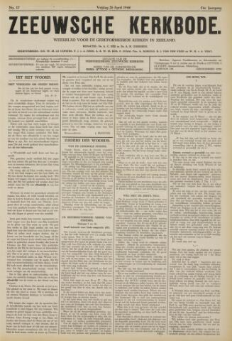 Zeeuwsche kerkbode, weekblad gewijd aan de belangen der gereformeerde kerken/ Zeeuwsch kerkblad 1940-04-26