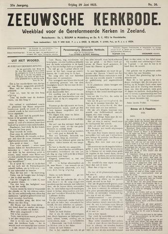 Zeeuwsche kerkbode, weekblad gewijd aan de belangen der gereformeerde kerken/ Zeeuwsch kerkblad 1923-06-29