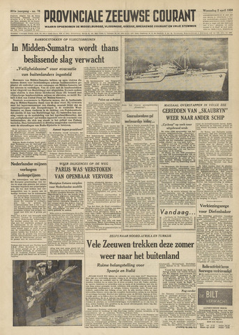 Provinciale Zeeuwse Courant 1958-04-02