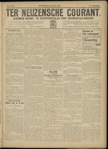 Ter Neuzensche Courant. Algemeen Nieuws- en Advertentieblad voor Zeeuwsch-Vlaanderen / Neuzensche Courant ... (idem) / (Algemeen) nieuws en advertentieblad voor Zeeuwsch-Vlaanderen 1931-07-22