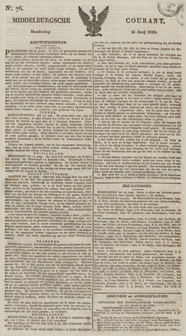 Middelburgsche Courant 1829-06-25
