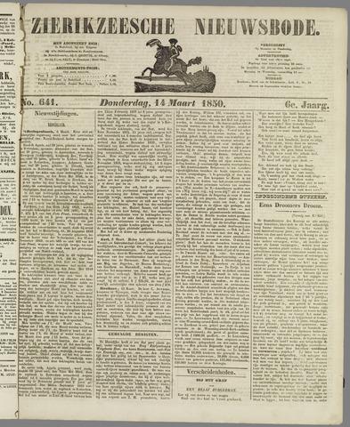 Zierikzeesche Nieuwsbode 1850-03-14