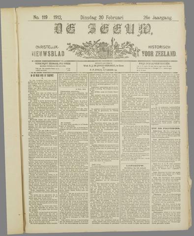 De Zeeuw. Christelijk-historisch nieuwsblad voor Zeeland 1912-02-20