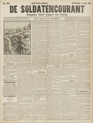 De Soldatencourant. Orgaan voor Leger en Vloot 1915-06-02