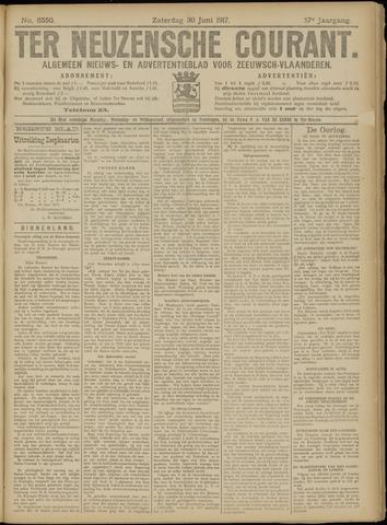 Ter Neuzensche Courant. Algemeen Nieuws- en Advertentieblad voor Zeeuwsch-Vlaanderen / Neuzensche Courant ... (idem) / (Algemeen) nieuws en advertentieblad voor Zeeuwsch-Vlaanderen 1917-06-30