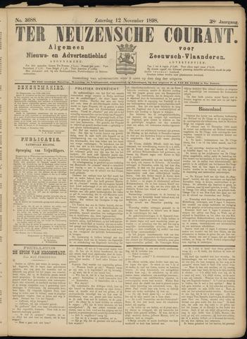 Ter Neuzensche Courant. Algemeen Nieuws- en Advertentieblad voor Zeeuwsch-Vlaanderen / Neuzensche Courant ... (idem) / (Algemeen) nieuws en advertentieblad voor Zeeuwsch-Vlaanderen 1898-11-12