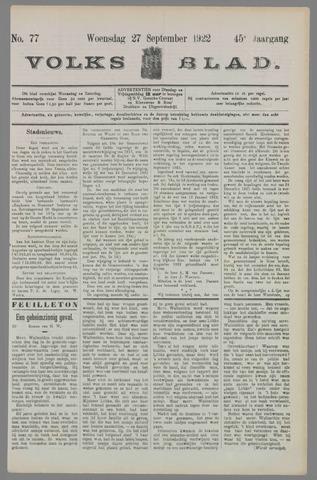 Volksblad 1922-09-27