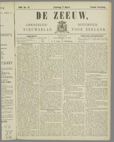 De Zeeuw. Christelijk-historisch nieuwsblad voor Zeeland 1888-03-17