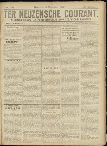 Ter Neuzensche Courant. Algemeen Nieuws- en Advertentieblad voor Zeeuwsch-Vlaanderen / Neuzensche Courant ... (idem) / (Algemeen) nieuws en advertentieblad voor Zeeuwsch-Vlaanderen 1924-11-12