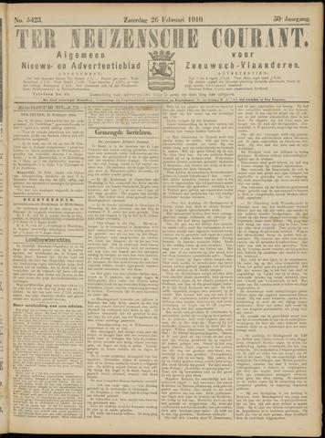 Ter Neuzensche Courant. Algemeen Nieuws- en Advertentieblad voor Zeeuwsch-Vlaanderen / Neuzensche Courant ... (idem) / (Algemeen) nieuws en advertentieblad voor Zeeuwsch-Vlaanderen 1910-02-26