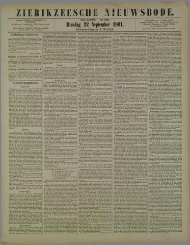 Zierikzeesche Nieuwsbode 1891-09-22