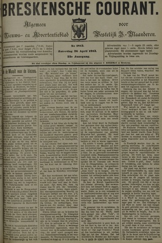 Breskensche Courant 1913-04-26