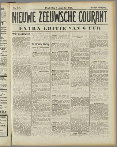 Nieuwe Zeeuwsche Courant 1914-08-06