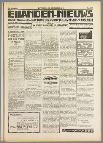Eilanden-nieuws. Christelijk streekblad op gereformeerde grondslag 1940-11-30