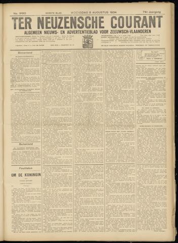 Ter Neuzensche Courant. Algemeen Nieuws- en Advertentieblad voor Zeeuwsch-Vlaanderen / Neuzensche Courant ... (idem) / (Algemeen) nieuws en advertentieblad voor Zeeuwsch-Vlaanderen 1934-08-08