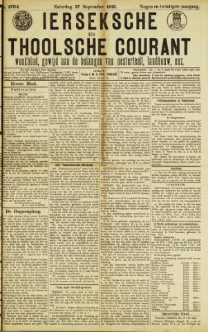 Ierseksche en Thoolsche Courant 1913-09-27