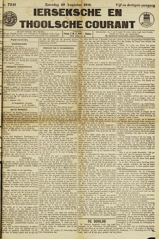 Ierseksche en Thoolsche Courant 1918-08-10