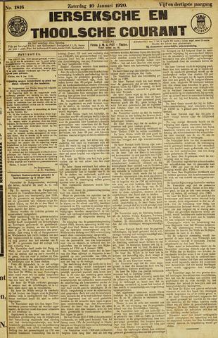 Ierseksche en Thoolsche Courant 1920-01-10