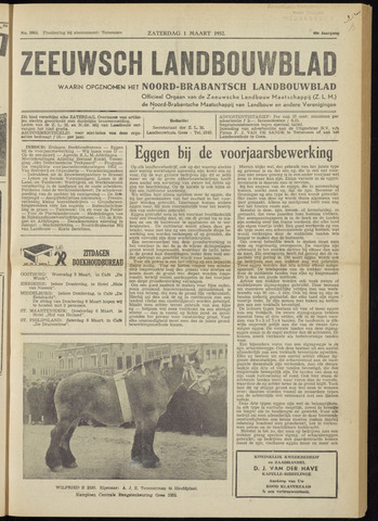 Zeeuwsch landbouwblad ... ZLM land- en tuinbouwblad 1952-03-01