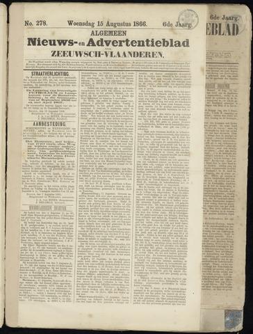 Ter Neuzensche Courant. Algemeen Nieuws- en Advertentieblad voor Zeeuwsch-Vlaanderen / Neuzensche Courant ... (idem) / (Algemeen) nieuws en advertentieblad voor Zeeuwsch-Vlaanderen 1866-08-15